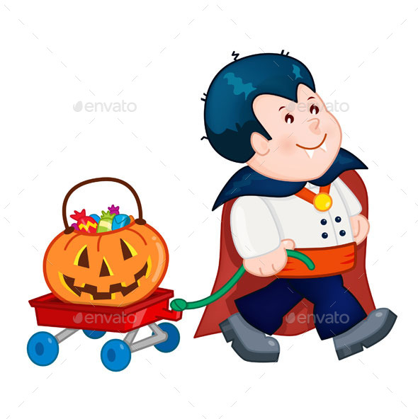 Dracula Halloween Costume - Characters Vectors