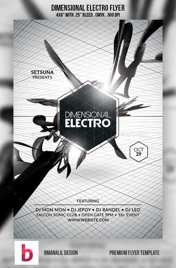 Dimensional Electro Flyer - Clubs & Parties Events