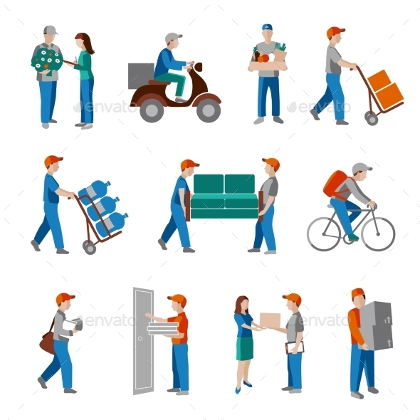 Delivery Icons Flat - Business Conceptual