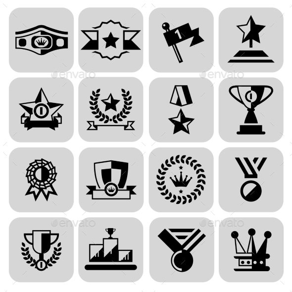 Award Icons Set - Web Technology