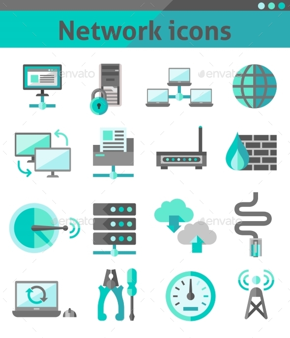 Network Icons Set - Web Technology