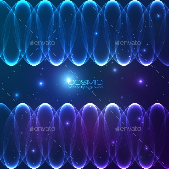 Abstract Shining Lines Cosmic Background - Abstract Conceptual
