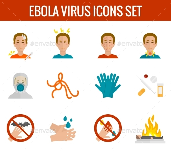Ebola Virus Icons - Health/Medicine Conceptual