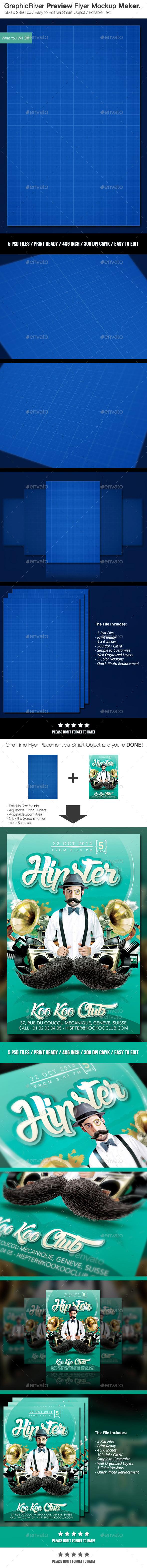 GraphicRiver Preview Flyer Mockup Maker - Flyers Print