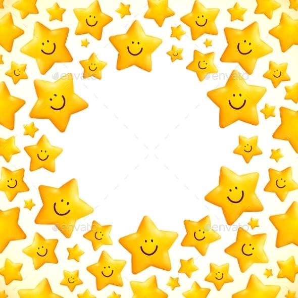 Yellow Smiley Star - Birthdays Seasons/Holidays