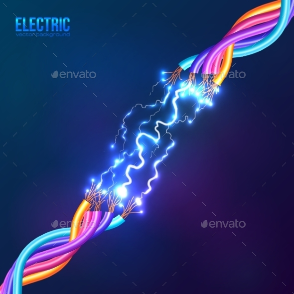 Electric Lightning between Colored Cables - Computers Technology