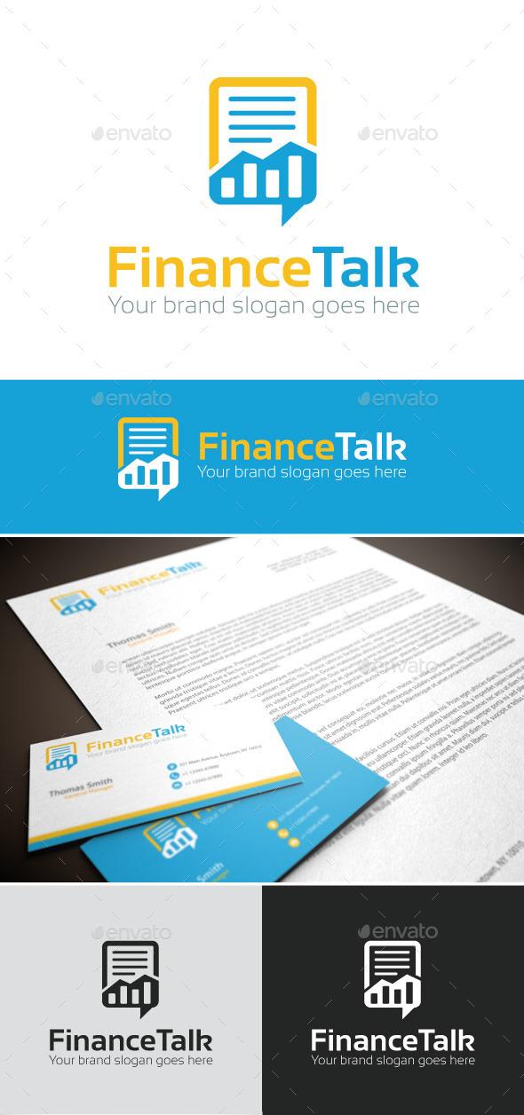 FinanceTalk Logo Template - Symbols Logo Templates