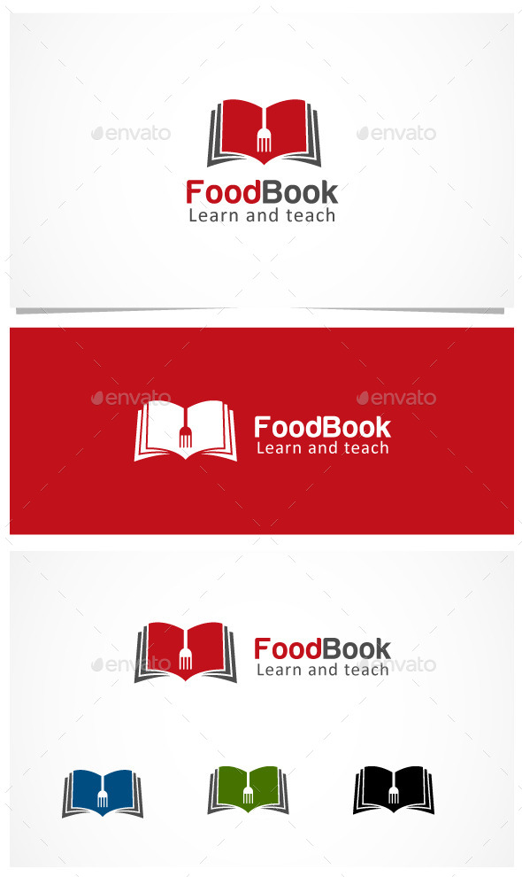 Food Book - Symbols Logo Templates
