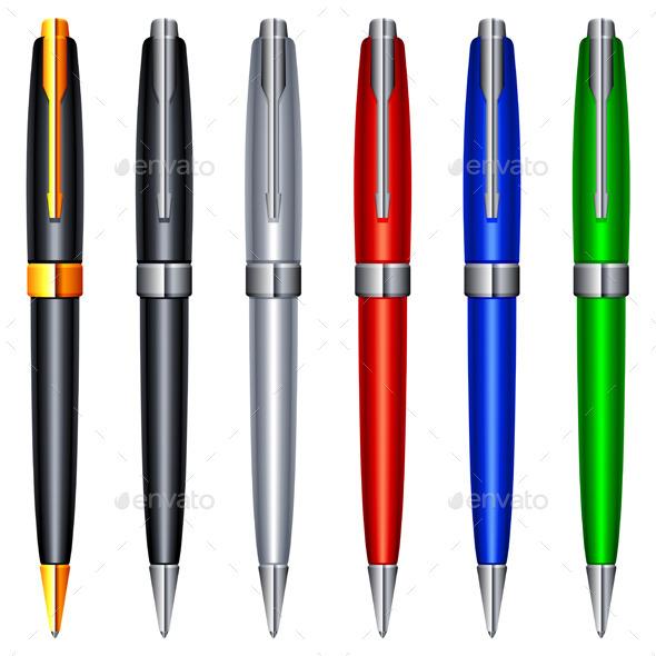 Color Pens - Objects Vectors