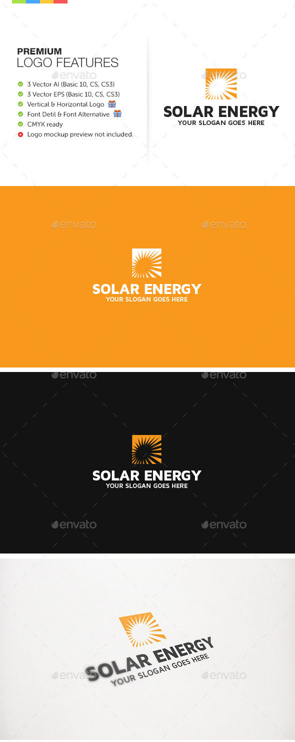 Solar Energy Alternative - Nature Logo Templates