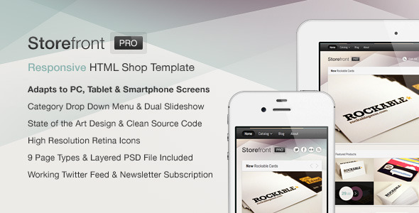 Storefront Pro — A Responsive Business Template