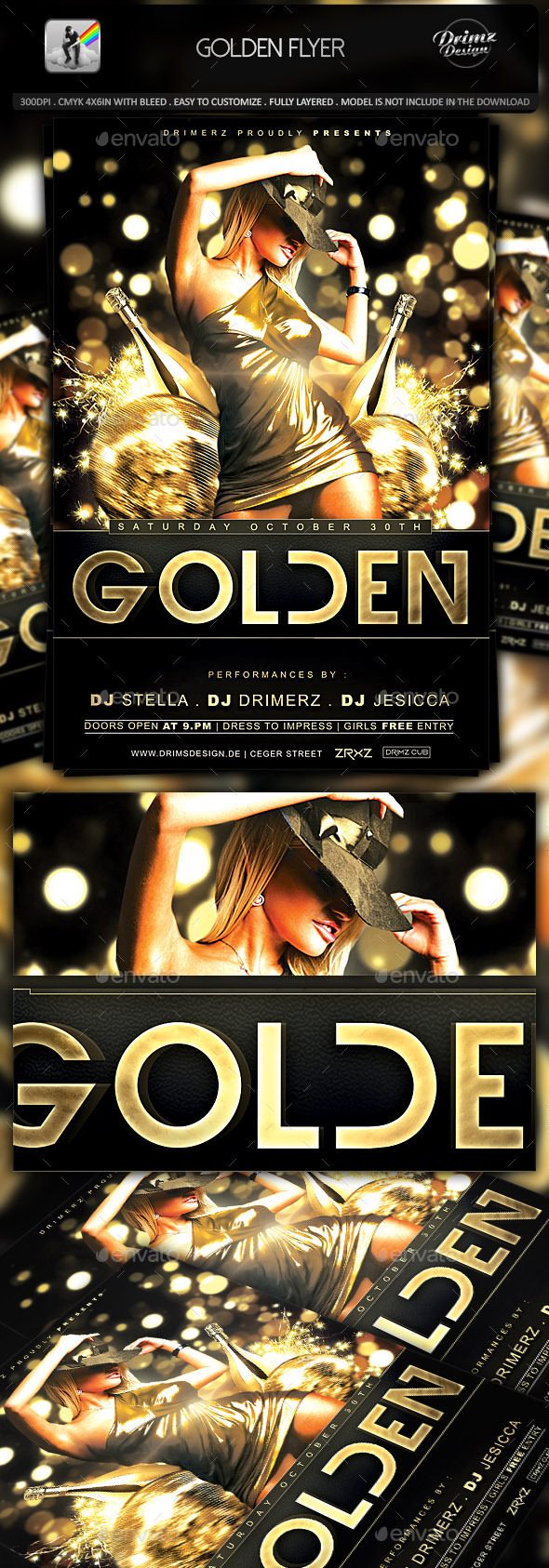 Golden Flyer - Events Flyers