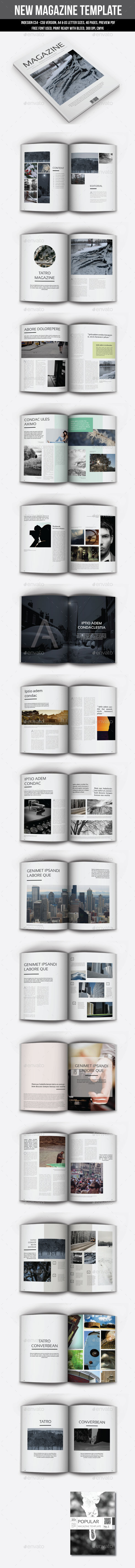 New Magazine Template - Magazines Print Templates