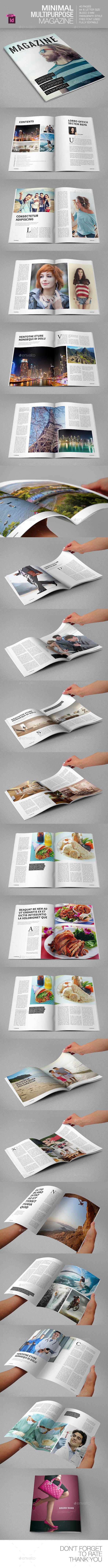 Minimal Multipurpose Magazine - Magazines Print Templates