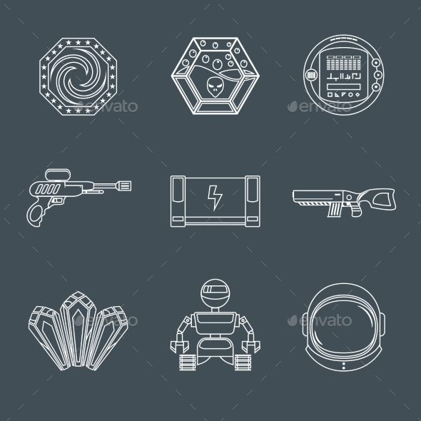 Space Game Icons - Web Technology