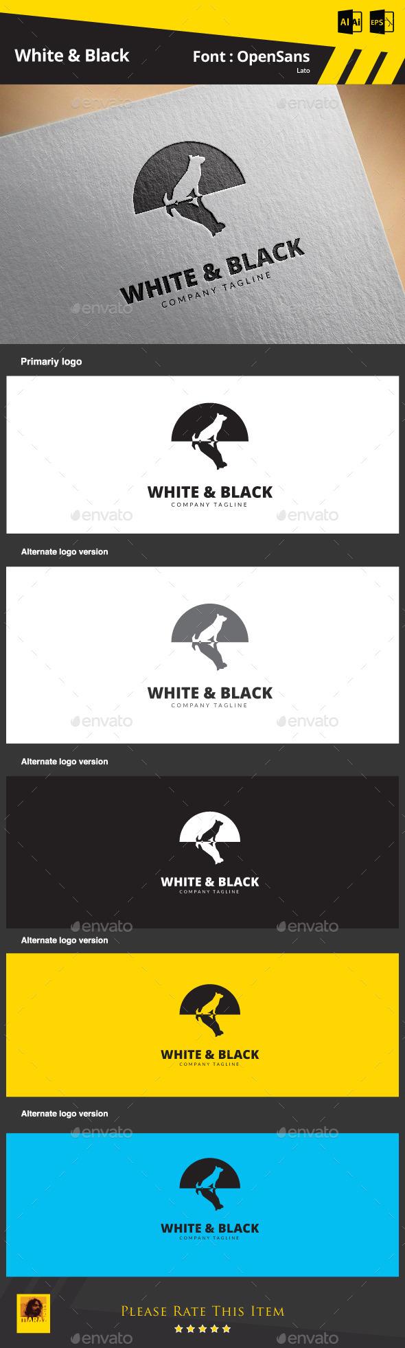 White & Black - Animals Logo Templates