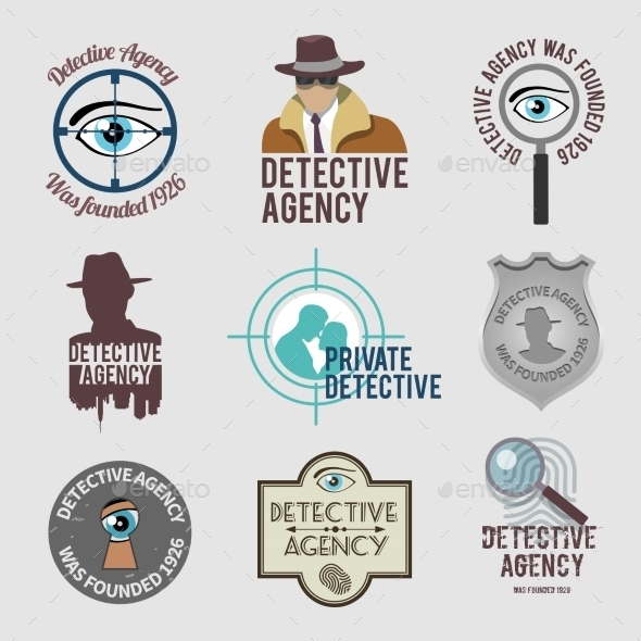 Detective Label Set - Miscellaneous Vectors