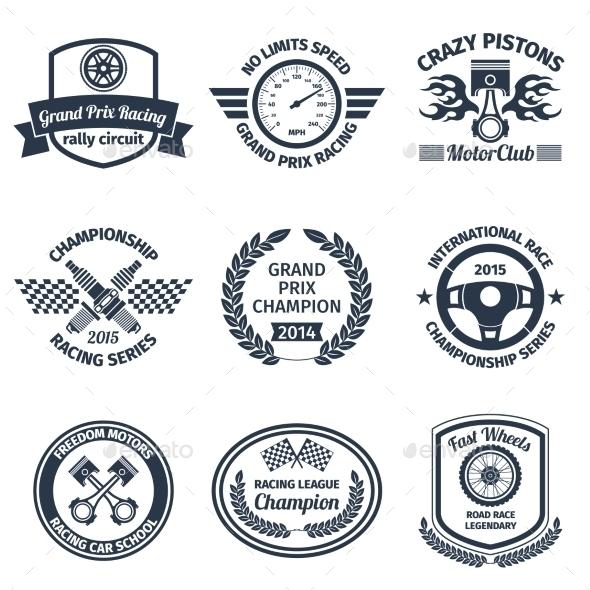Racing Emblems - Objects Vectors