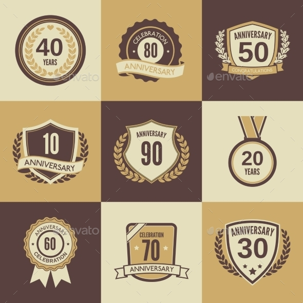 Anniversary Label Set - Web Technology