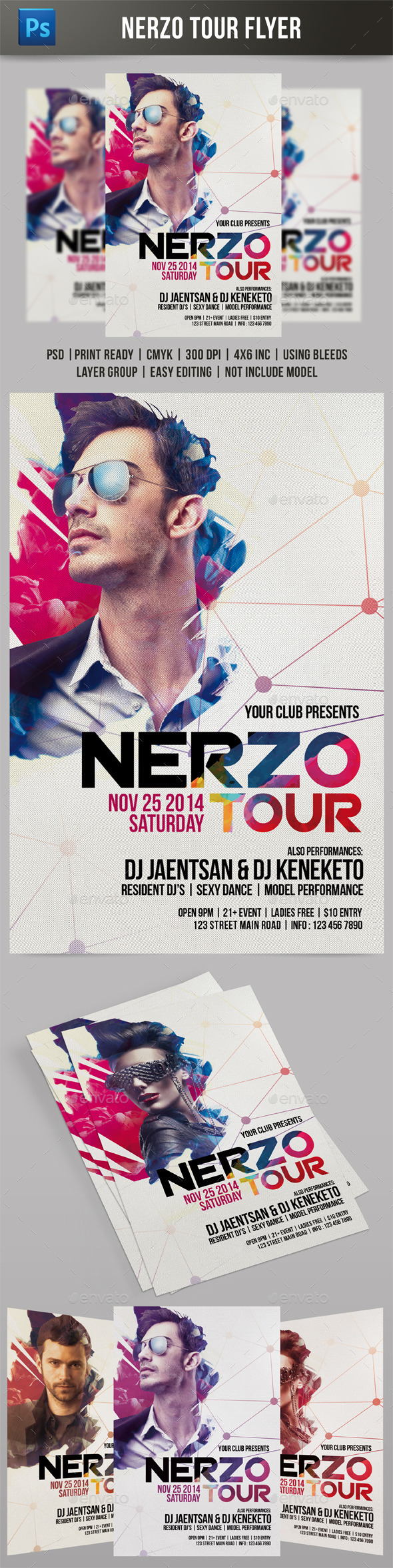 Nerzo Tour Flyer - Events Flyers