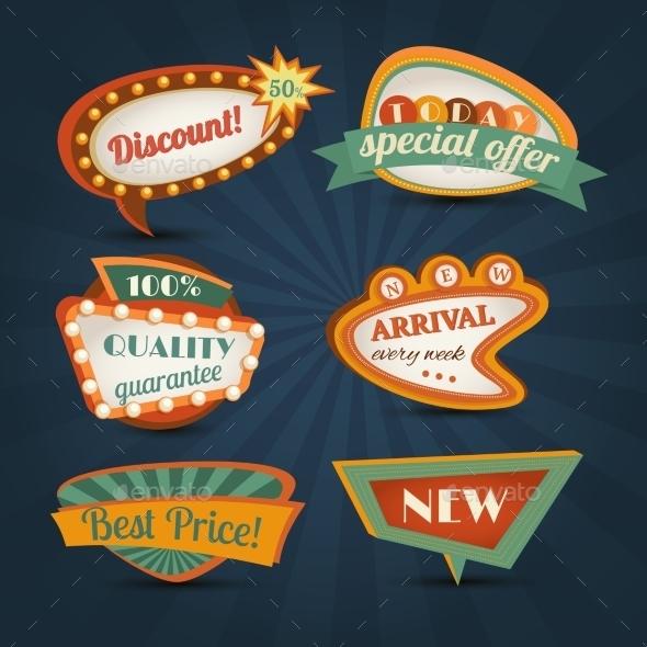 Retro Speech Bubble - Retail Commercial / Shopping