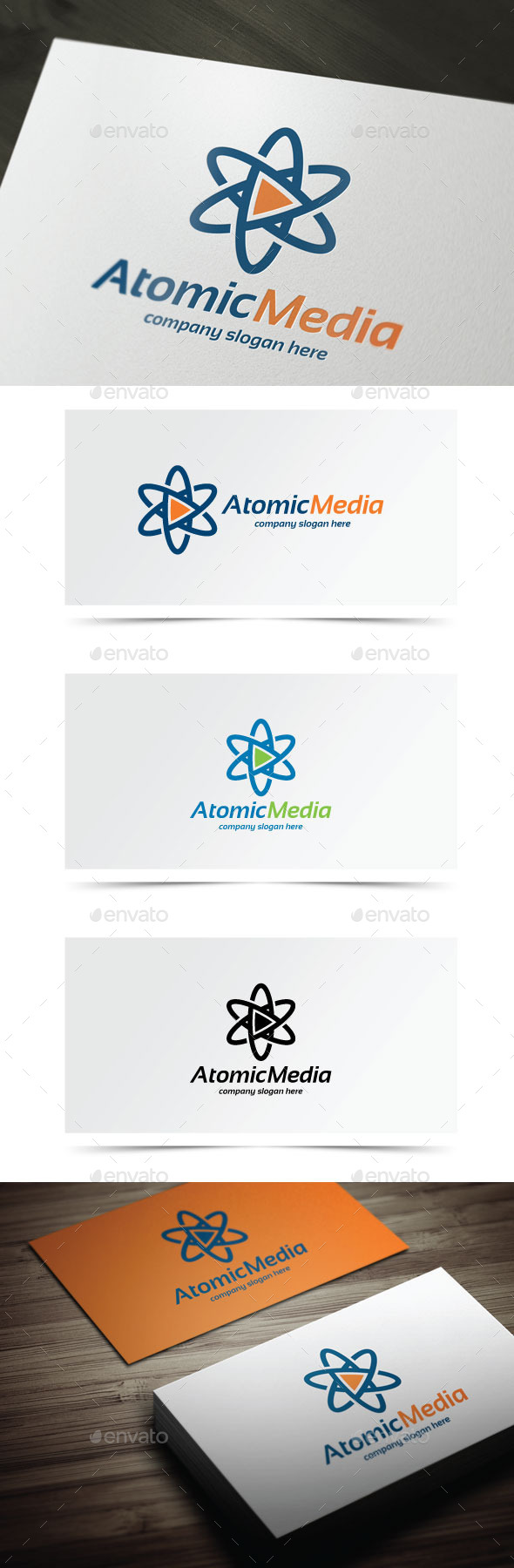 Atomic Media - Symbols Logo Templates