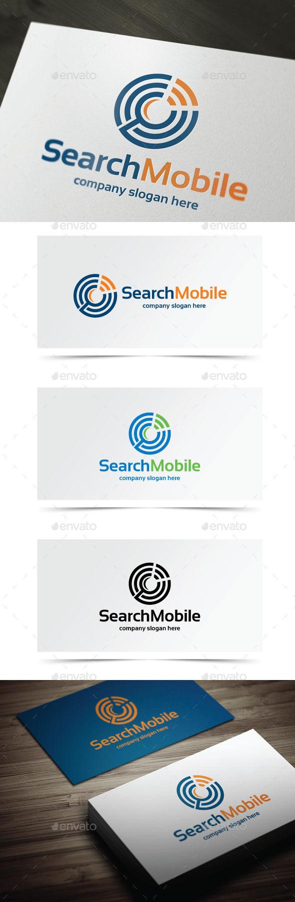 Search Mobile - Symbols Logo Templates
