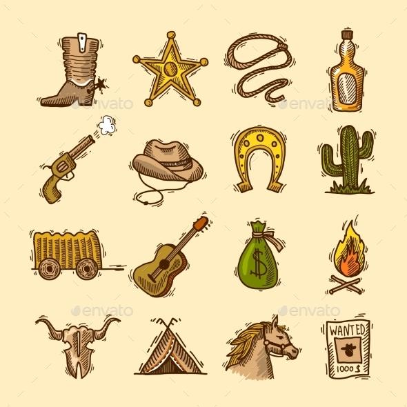 Wild West Set - Miscellaneous Vectors