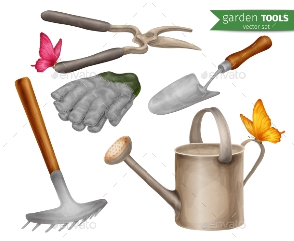 Garden Tools Set - Objects Vectors