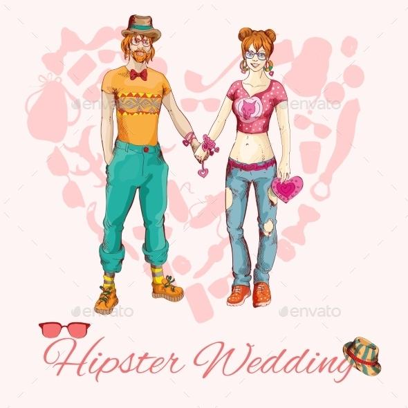 Hipster Wedding Card - Weddings Seasons/Holidays