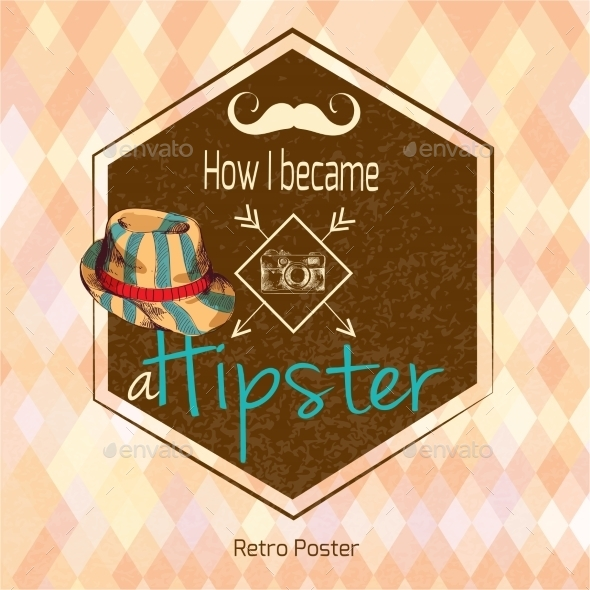 Hipster Retro Poster - Backgrounds Decorative