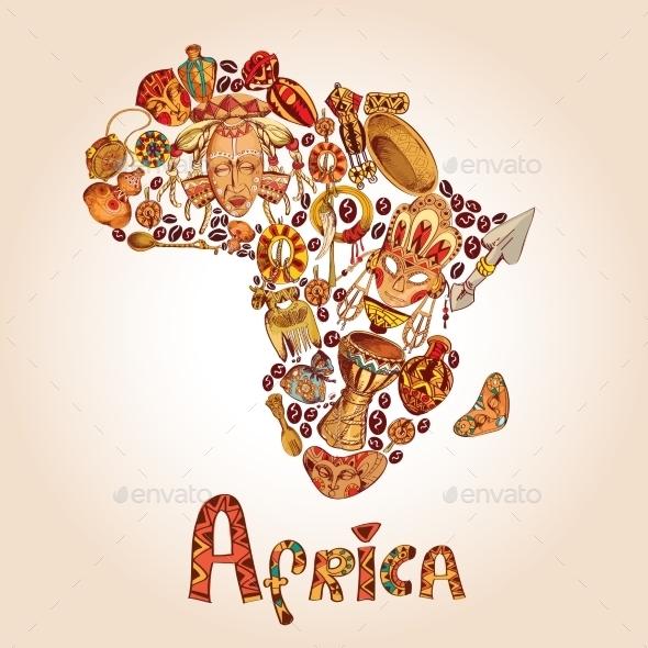 Africa Sketch Concept - Travel Conceptual