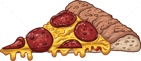 Pepperoni Pizza Slice - Food Objects