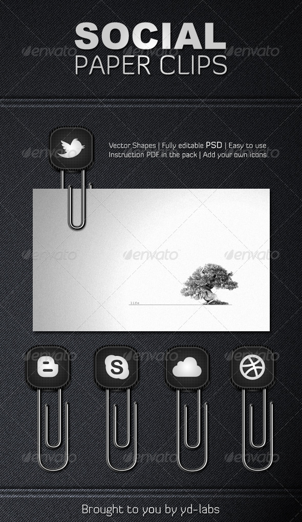 Social Paper Clips - Miscellaneous Web Elements