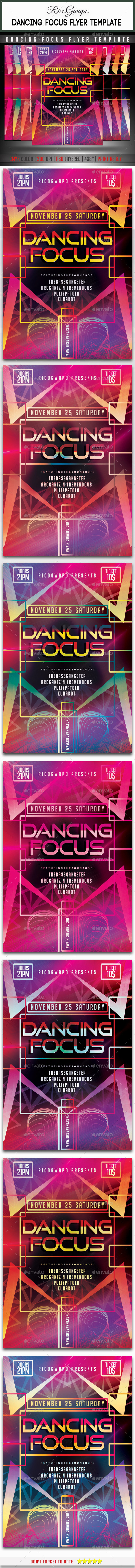 Dancing Focus Flyer Template - Flyers Print Templates