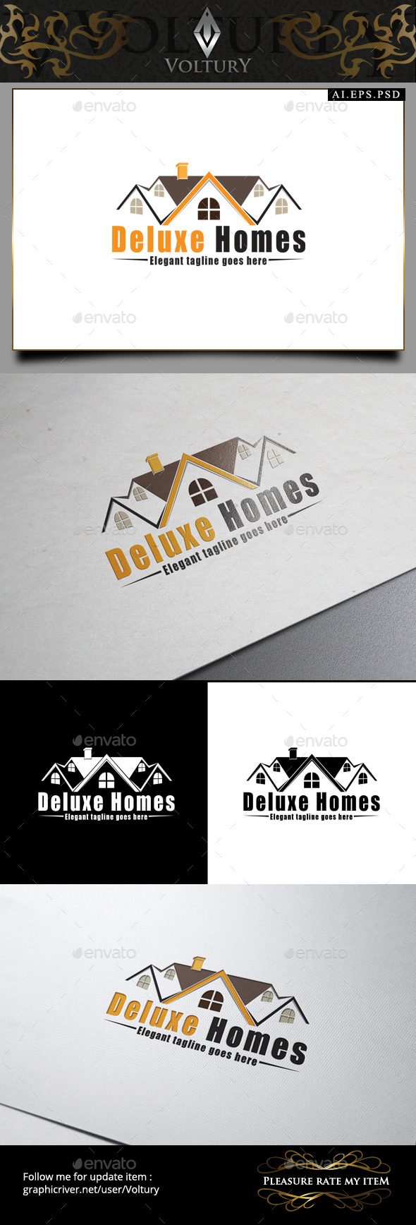 Deluxe Homes Logo - Buildings Logo Templates