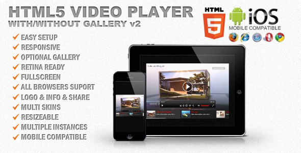 html5 video player template - responsive html5 video player gallery by creativemedia