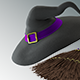 Witch Hat and Broom - 3DOcean Item for Sale