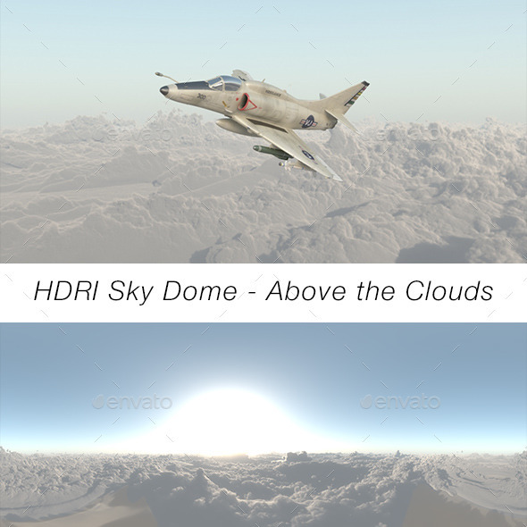 HDRI Sky Dome - Above The Clouds