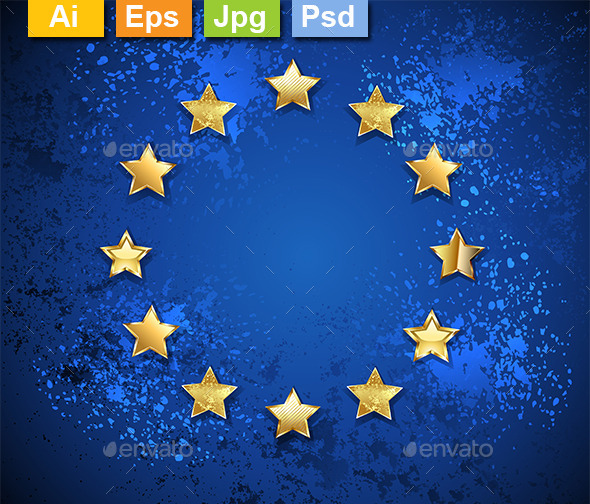 Grungy European Union Symbol - Decorative Vectors
