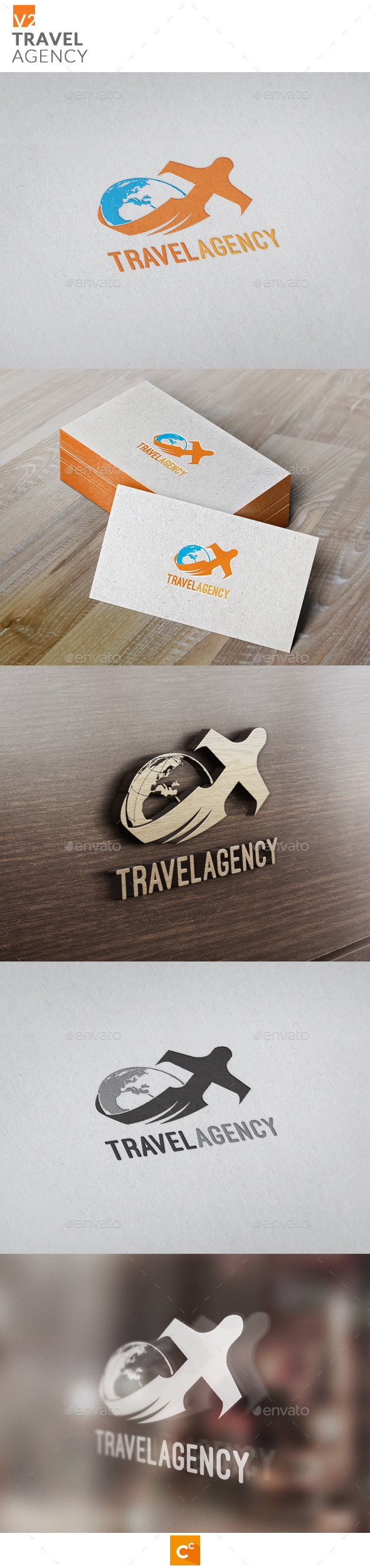 Travel Agency v2 - Objects Logo Templates