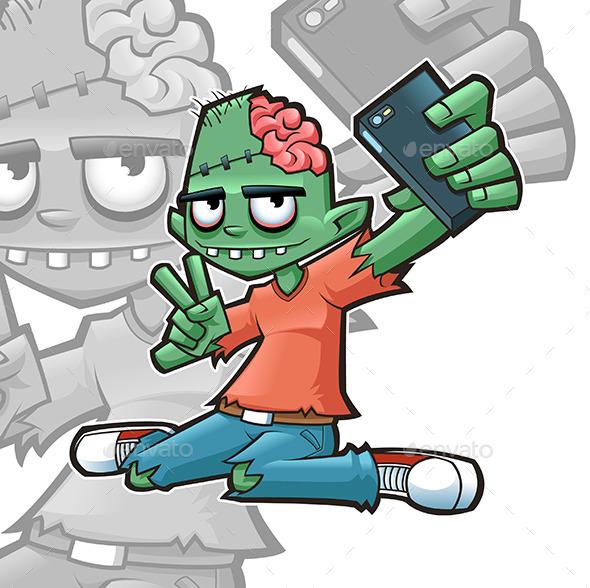 Selfie Zombie - Monsters Characters