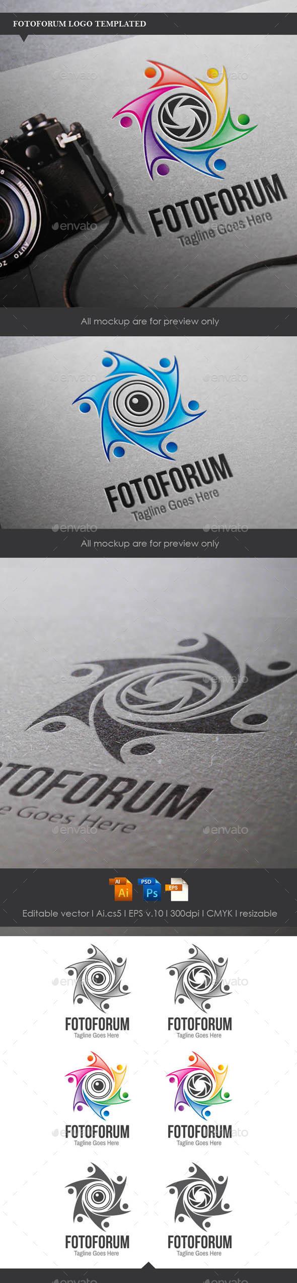 Fotoforum Logo Template - Symbols Logo Templates