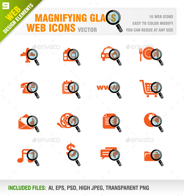 Magnifying Glass - Web Icons - Web Elements Vectors