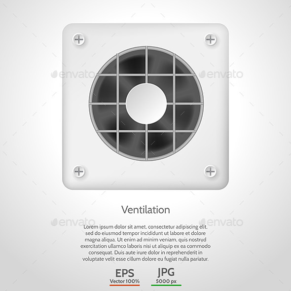 Vector Illustration of Gray Ventilation - Man-made Objects Objects