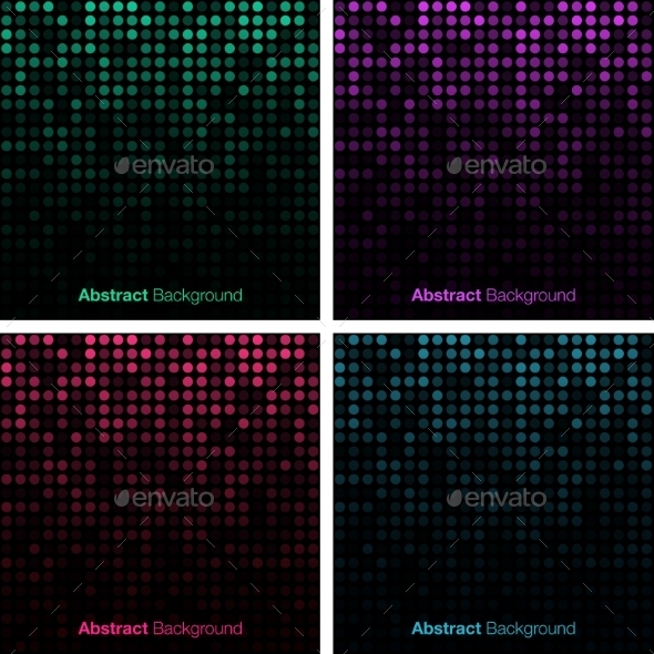 Set of Abstract Technology Backgrounds - Miscellaneous Conceptual