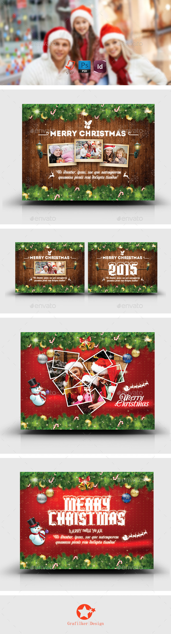 Christmas Postcard Bundle Templates - Corporate Flyers