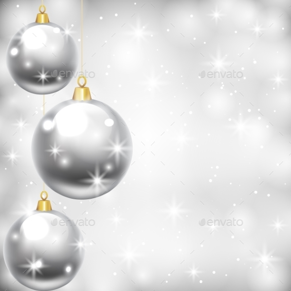 Silver Baubles - Christmas Seasons/Holidays