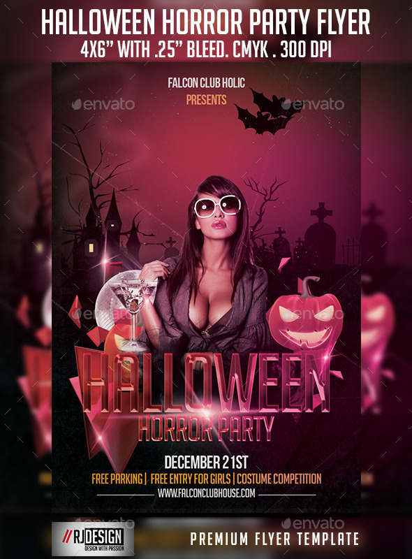 Halloween Horror Party Flyer - Clubs & Parties Events