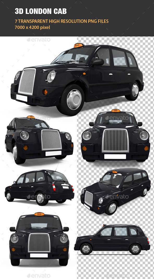 3D London Cab - Objects 3D Renders